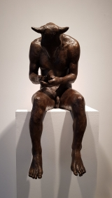 "<h5>Minotaur Reading III</h5><p>Bronze Resin, 29"" x 19"" x 12½"" (73.6 x 48.2 x 31.7cm)																																																			</p>"