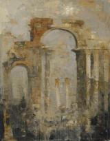 "<h5>Palmyra</h5><p>Oil and wax on canvas, 57½"" x 45"" (146 x 114cm)																																		</p>"