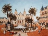 "<h5>La place du casino de Monte-Carlo</h5><p>Acrylic on board, 31½"" x 23½"" (80 x 60cm)																																		</p>"