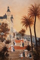 """<h5>Les terrasses du Casino de Monte-Carlo</h5><p>Acrylic on board, 15¾"""" x 23½"""" (40 x 60cm)</p>"""