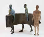 "<h5>Sin Fin III/2</h5><p>Bronze and iron, 12½"" x 25½"" x 29"" (32 x 65 x 74cm)																																																																																																						</p>"