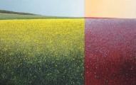 """<h5>Le Printemps et sa variation complémentaire</h5><p>Oil on canvas, 51"""" x 83"""" (130 x 211cm)</p>"""