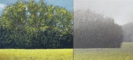 "<h5>Le Soleil et la Pluie</h5><p>Oil on canvas, 39"" x 125"" (99 x 318cm)</p>"