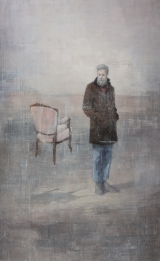 "<h5>The empty chair</h5><p>Acrylic on canvas, 48"" x 30"" (122 x 76cm)																																		</p>"