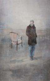 "<h5>The empty chair</h5><p>Acrylic on canvas, 48"" x 30"" (122 x 76cm)</p>"