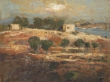 "<h5>The Valley of Qala</h5><p>Oil and wax on canvas, 38"" x 51"" (97 x 130cm)</p>"