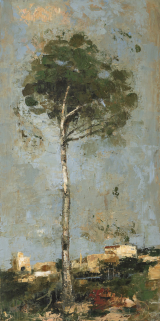 "<h5>Evergreen</h5><p>Oil and wax on canvas, 47¼"" x 23¾"" (120 x 60cm)</p>"