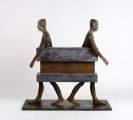 "<h5>Separados</h5><p>Bronze, wood and iron, 14"" x 31½"" x 31½"" (25 x 80 x 80cm)																	</p>"