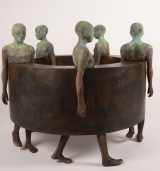"<h5>Big Sin Fin III</h5><p>Bronze and iron, 43"" x 35½"" x 43"" (110 x 90 x 110cm)																	</p>"