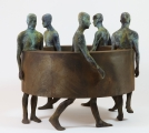 "<h5>Sin Fin III</h5><p>Bronze and iron, 29"" x 25½"" x 29"" (74 x 65 x 74cm)																	</p>"