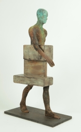 "<h5>Uncamino</h5><p>Bronze, wood and iron, 7¾"" x 27½"" x 13¾"" (20 x 70 x 35cm)																	</p>"