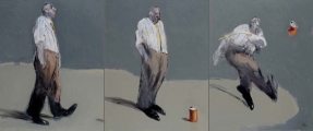 """<h5>Drop Soda (triptych)</h5><p>Oil on canvas, 36"""" × 87½"""" (91.4 × 222.3cm)</p>"""