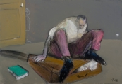 "<h5>Une place pour bartleby</h5><p>Mixed Media on Canvas, 15"" x 21½"" (38 x 55cm)</p>"