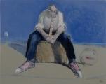 "<h5>Raconte moi l'océan</h5><p>Mixed Media on Canvas, 28¾"" x 36"" (73 × 91.4cm)</p>"