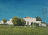 "<h5>Ferme blanche</h5><p>Oil on canvas, 28¾"" x 39½"" (73 x 100cm)</p>"