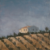 "<h5>Maison dans l'oliveraie</h5><p>Oil on canvas, 17¾"" x 17¾"" (45 x 45cm)</p>"