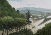 "<h5>Sichuan</h5><p>Oil on canvas, 35"" x 51"" (89 x 130cm)</p>"
