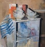 "<h5>Still life no. 7</h5><p>Oil on canvas, 48"" x 44"" ( 122 x 112 cm)</p>"