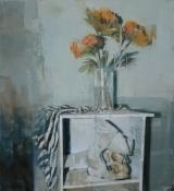 "<h5>Still Life no. 9</h5><p>Oil on canvas, 48"" x 44"" ( 122 x 112 cm)</p>"