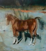 """<h5>Equus no. 11</h5><p>Oil on canvas, 62"""" x 55"""" ( 158 x 140 cm)</p>"""