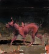 "<h5>Rouge Rouge</h5><p>Oil on canvas, 28"" x 24"" (71 x 61 cm)</p>"