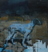 "<h5>The entrance</h5><p>Oil on canvas, 60"" x 55"" (152 x 140cm)</p>"