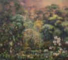 "<h5>Nostalgie joyeuse</h5><p>Acrylic, marble powder, and pure pigment on canvas, 59 x 67"" (150 x 170cm)</p>"