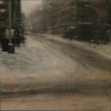 "<h5>Nieve pisada (NY)</h5><p>Oil on wood panel, 33½ x 33½"" (85 x 85cm)</p>"