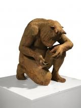 "<h5>Crouching Minotaur w/ book (iron-oxide)</h5><p>Resin, 21"" x 17½"" x 14"" (53 x 45 x 36cm)</p>"