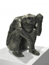 "<h5>Minotaur (Holding Horn)</h5><p>Bronze, 20"" x 20"" x 13¼"" (51 x 51 x 34cm)</p>"
