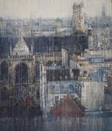 """<h5>Parisian Rooftops VI</h5><p>Watercolor on Arches paper, 60"""" x 52"""" (152 x 132cm)</p>"""
