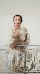 "<h5>Mrs Fonssagrives</h5><p>Oil on canvas, 36"" x 20"" (91 x 51cm)</p>"