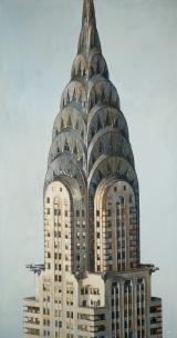 "<h5>Chrysler Tower</h5><p>Oil on canvas, 60"" x 32"" (152 x 81cm)</p>"