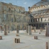 "<h5>Palais Royal</h5><p>Oil on canvas, 40"" x 40"" (102 x 102cm)</p>"