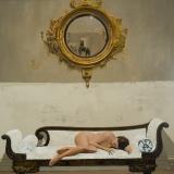 """<h5>White Canapé</h5><p>Oil on canvas, 40"""" x 40"""" (102 x 102cm)</p>"""