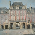 """<h5>Place des Vosges</h5><p>Oil on canvas, 40"""" x 40"""" (102 x 102cm)</p>"""