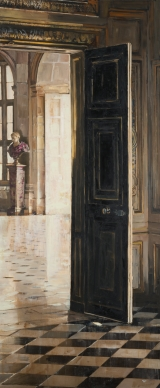 """<h5>Vaux le Vicomte</h5><p>Oil on canvas, 48"""" x 20"""" (122 x 51cm)</p>"""