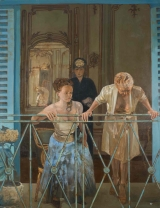 "<h5>On the Balcony</h5><p>Oil on canvas, 52"" x 40"" (132 x 102cm)</p>"