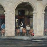 """<h5>Entre Deux Arcades</h5><p>Oil on canvas, 40"""" x 40"""" (102 x 102cm)</p>"""