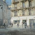 "<h5>100 Rue St Antoine</h5><p>Oil on canvas, 40"" x 40"" (102 x 102cm)</p>"