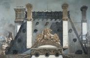 "<h5>Four Chimneys</h5><p>Oil on canvas, 52"" x 80"" (132 x 203cm)</p>"