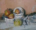 "<h5>Mangoes 4</h5><p>Oil on canvas, 22"" x 26"" (56 x 66cm)</p>"