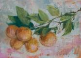 "<h5>Orangeaide</h5><p>Oil on canvas, 16"" x 22"" (41 x 56cm)</p>"