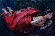 """<h5>Ophélie</h5><p>Oil on Canvas, 35 x 57½"""" (89 x 146cm)</p>"""