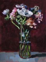 """<h5>Pivoines et anémones </h5><p>Oil on Canvas, 51 x 38"""" (130 x 97cm)</p>"""