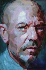 """<h5>Autoportrait 2196, et des mots sans suite</h5><p>Oil on Canvas, 57½ x 38"""" (146 x 97cm)</p>"""