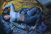 """<h5>Luxe, calme et volupté </h5><p>Oil on Canvas, 38"""" x 57½"""" (97 x 146cm)</p>"""