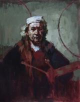 """<h5>Rembrandt, autoportrait aux deux cercles </h5><p>Oil on Canvas, 36¼"""" x 28¾"""" (92 x 73cm)</p>"""