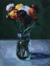 """<h5>Renoncules </h5><p>Oil on Canvas, 51¼"""" x 38¼"""" (130 x 97cm)</p>"""