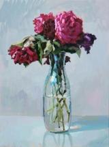"<h5>Pivoines rose</h5><p>Oil on Canvas, 51¼"" x 38¼"" (130 x 97cm)</p>"